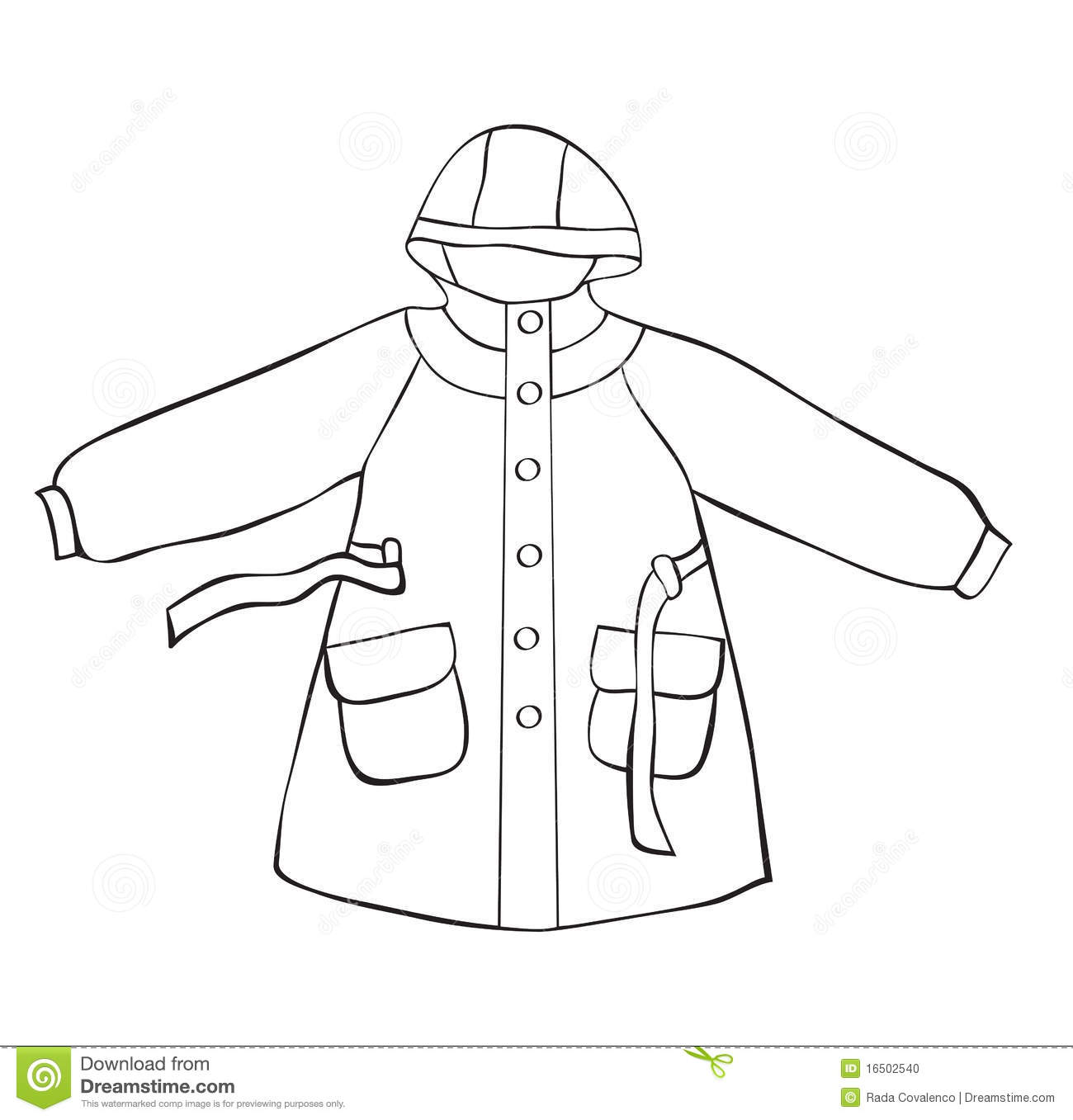 Rain Coat Stock Vector Illustration Of Sketch Painting