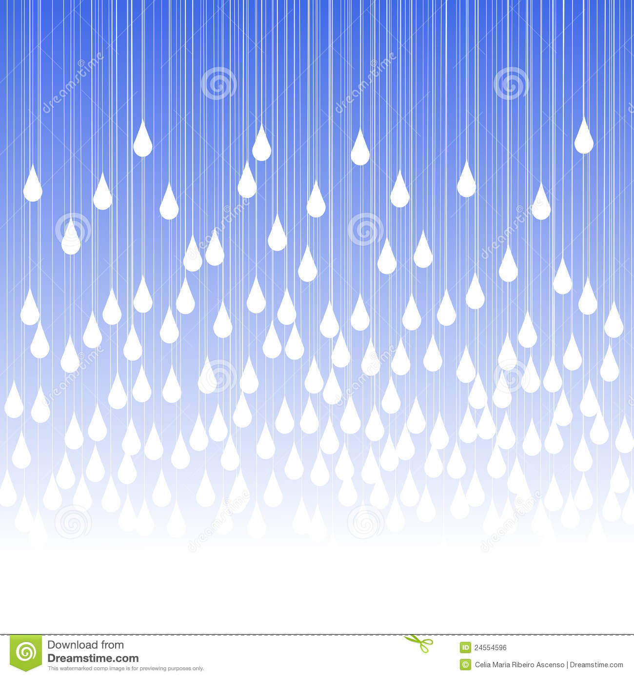 Raindrops Falling From The Sky Wallpaper Rain Drops And Fog Greeting Card Stock Illustration