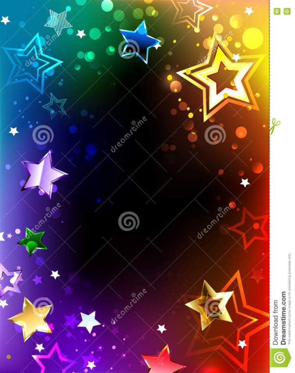 Rainbow Frame With Stars Stock Vector. Illustration Of