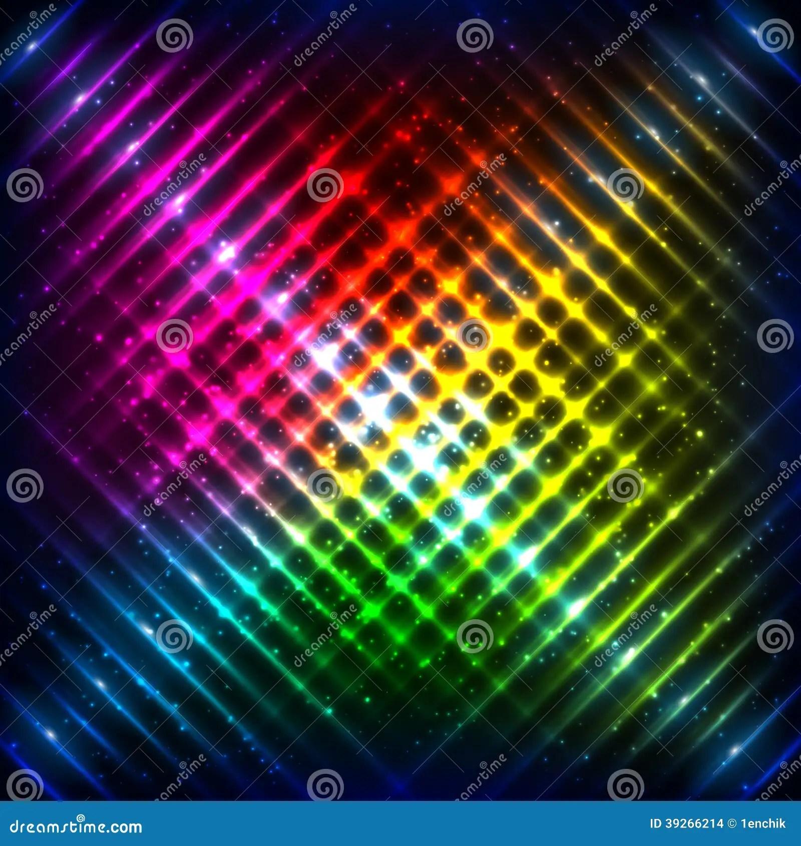 Grid Wallpaper Iphone X Rainbow Neon Grid Vector Background Stock Vector Image