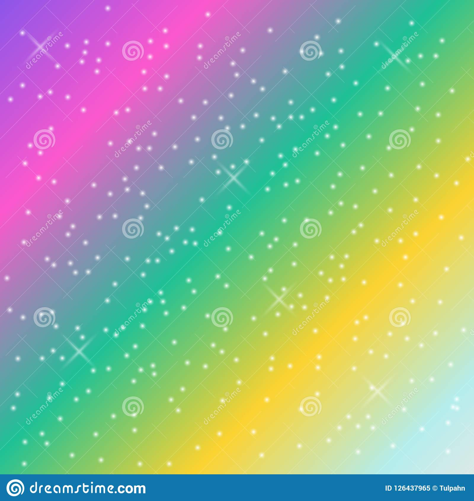 Wallpaper Falling Stars Rainbow Pastel Background Stock Illustration Illustration