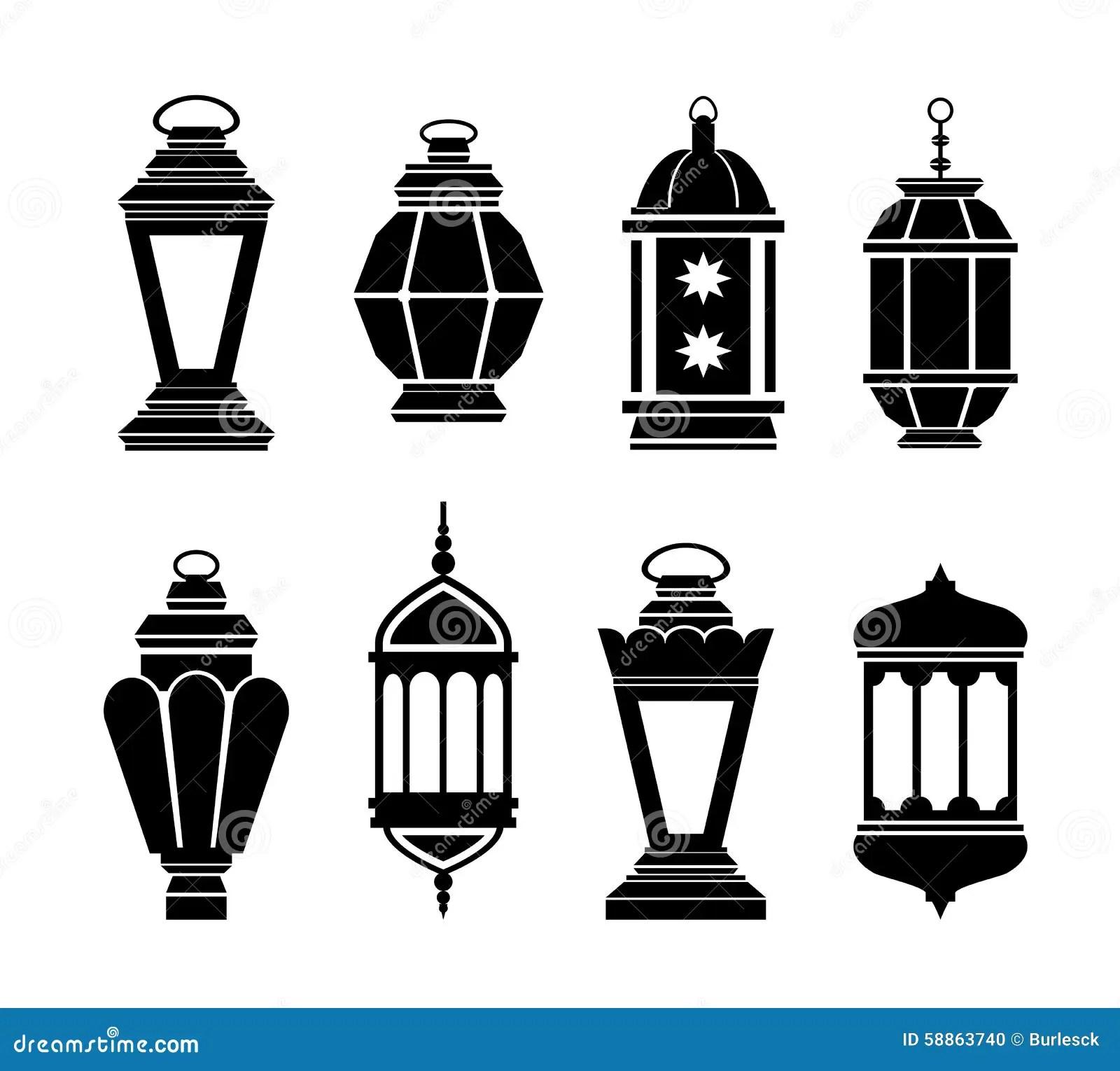 Ramadan Arabic Lanterns Illustration De Vecteur