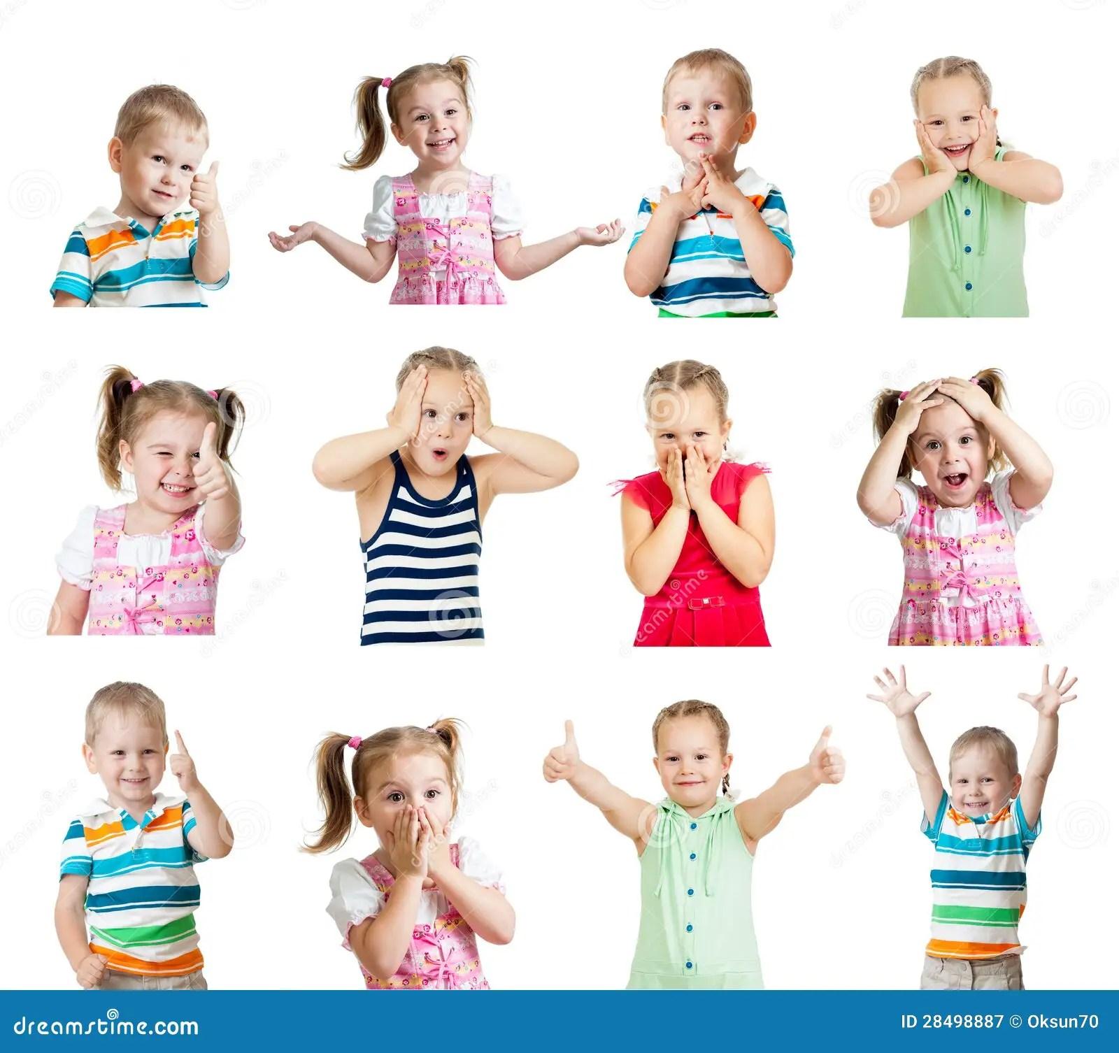 Ramassage D Enfants Avec Differentes Emotions D Isolement
