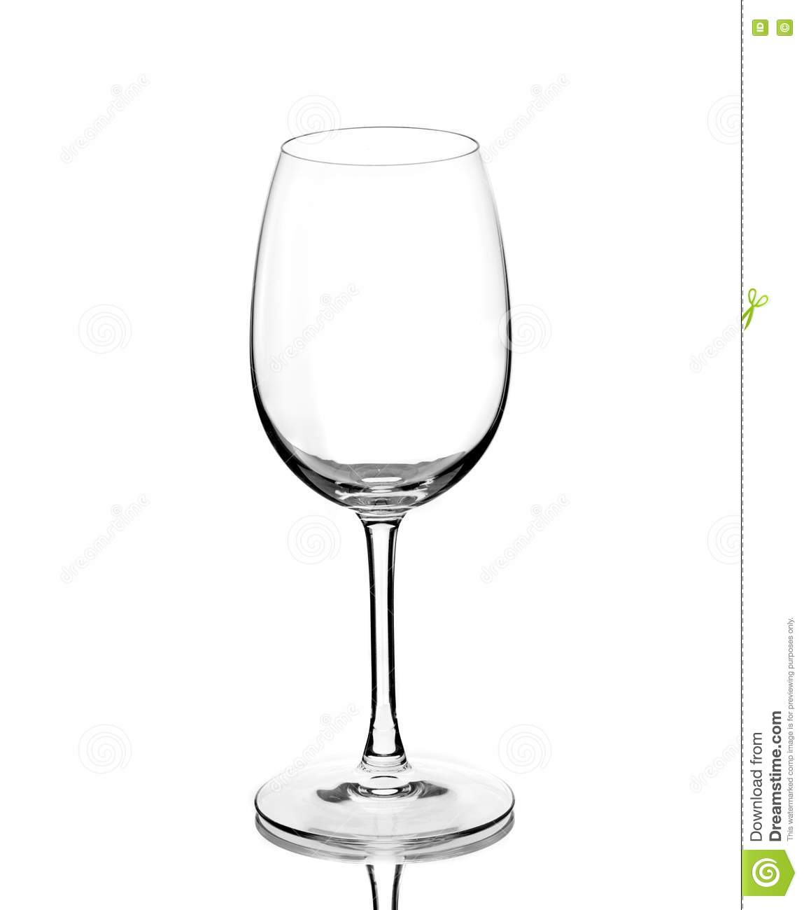 Ransparent Empty Wine Glass Royalty Free Stock Photos