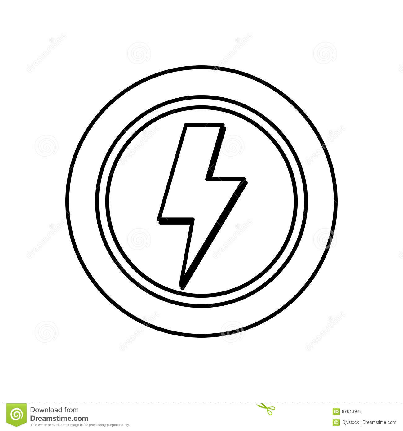 Ray Electricity Symbol Stock Photo Image Of Powerful