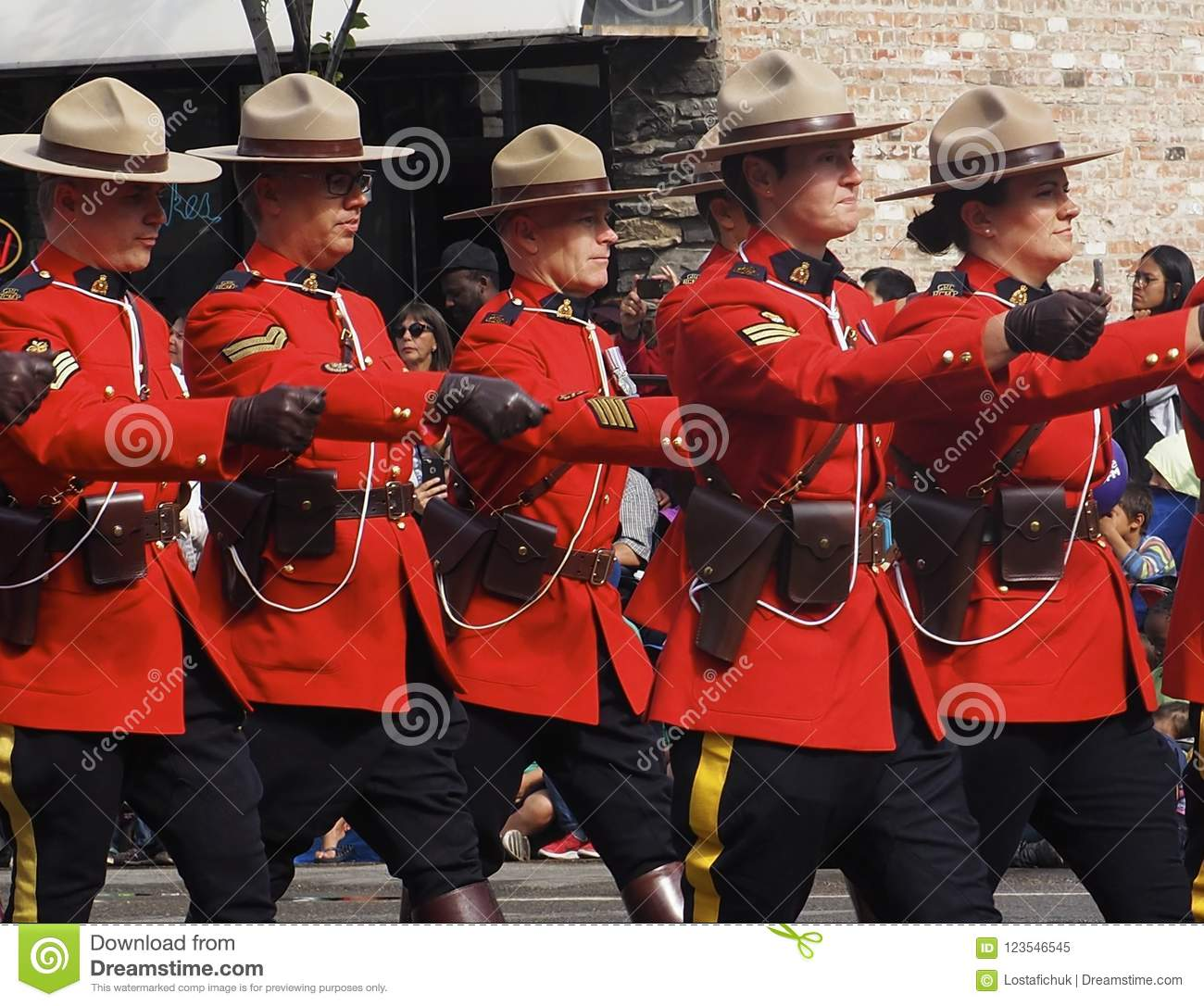 Royal Canadian Mounted Police In Kdays Parade Editorial