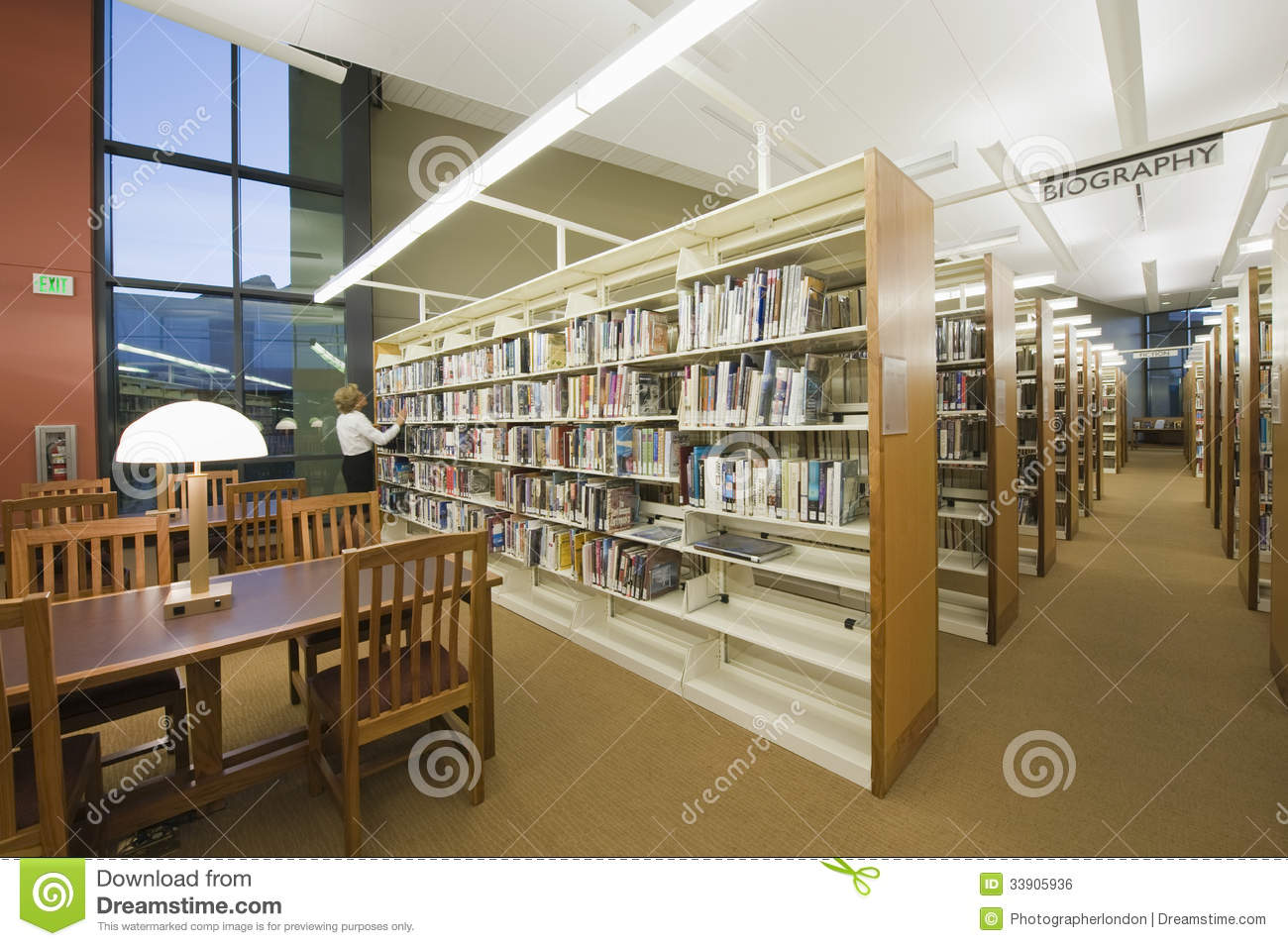 Reading Room In Library Royalty Free Stock Image  Image 33905936