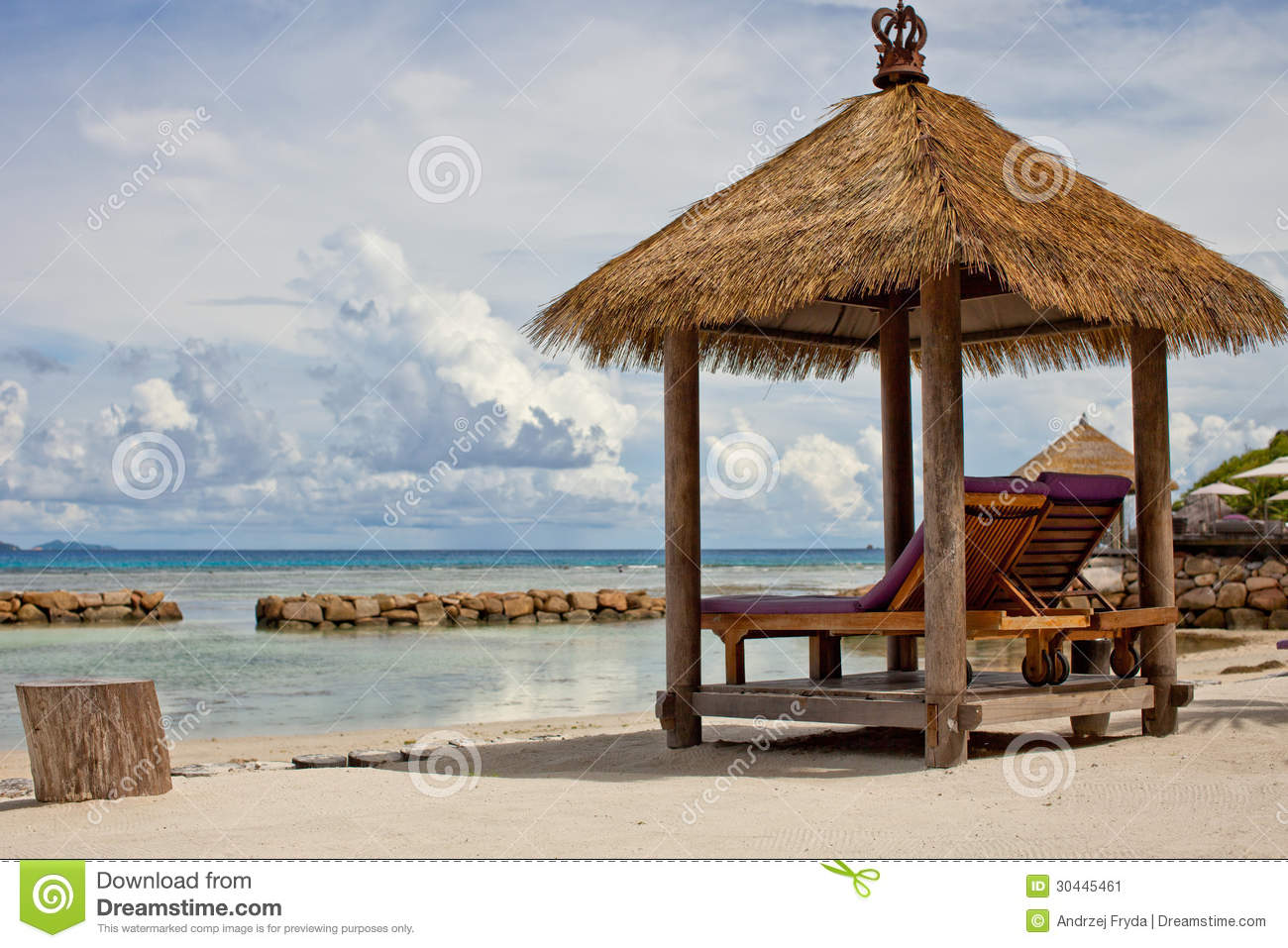 Long Beach Chair Ready To Relax Stock Image Image Of Tranquil Chaise