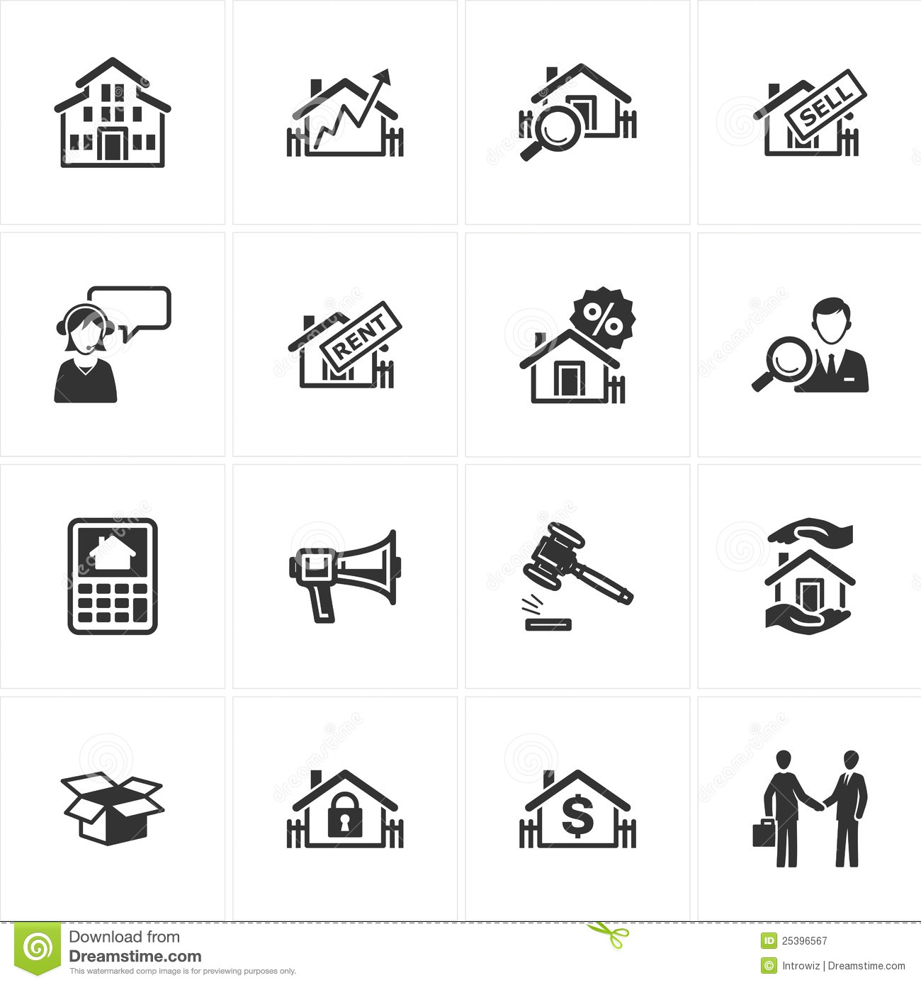 Real Estate Icons Royalty Free Stock Photography  Image 25396567