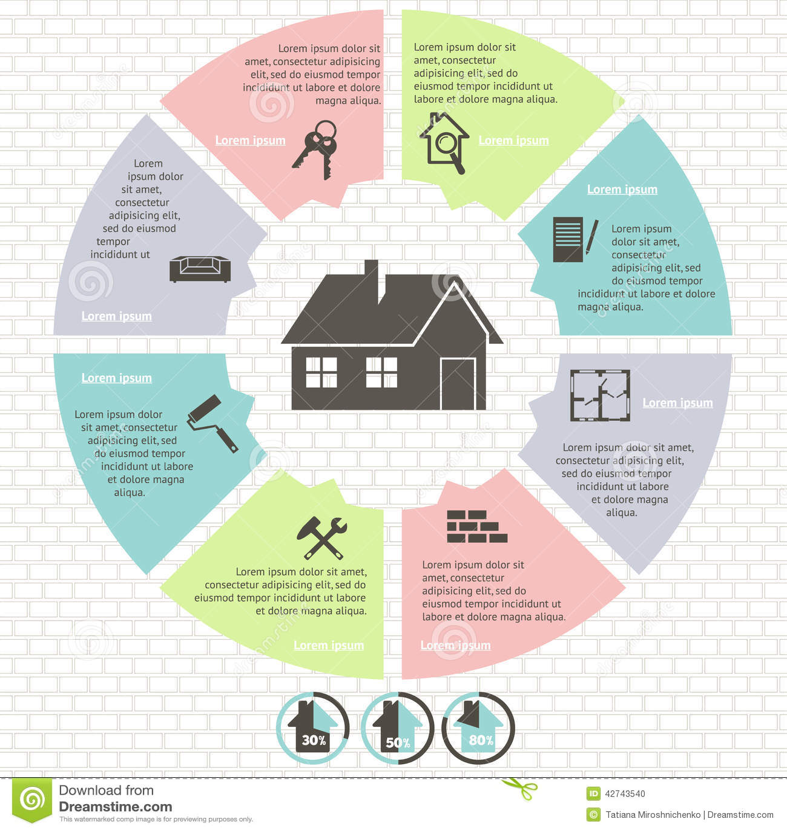 real estate infographic set