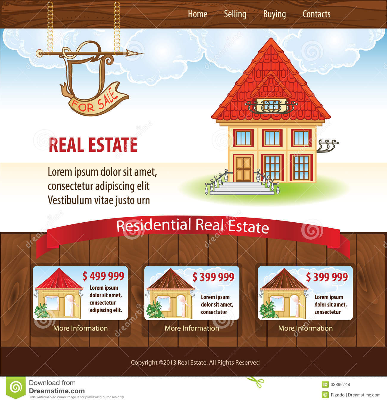 real estate template stock