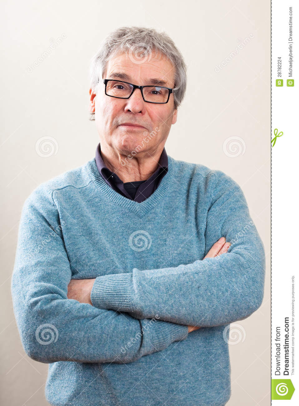 Real People Portrait Waist Up Senior Caucasian Man Stock Images  Image 28782224