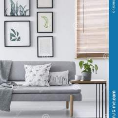 Sofa Art Gallery New Ava Fabric Bed Red Real Photo Of A Modern Living Room Interior With Pillows On