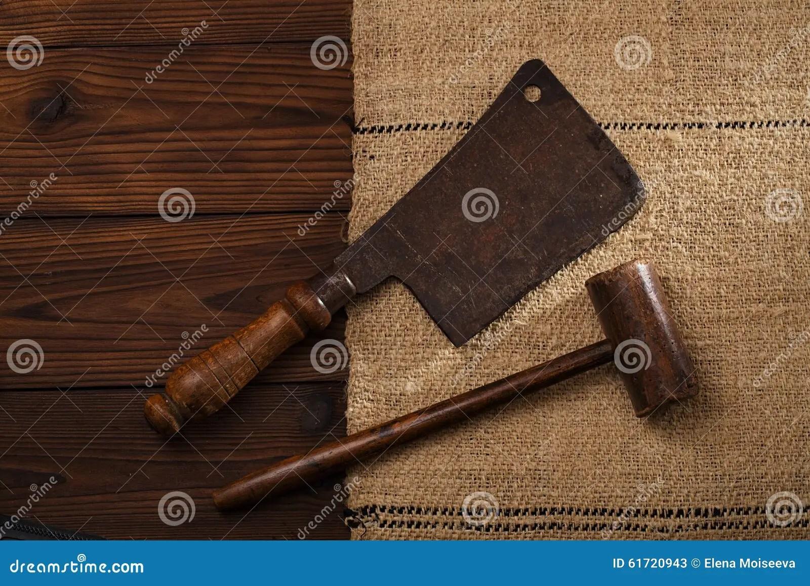 real vintage wooden mallet