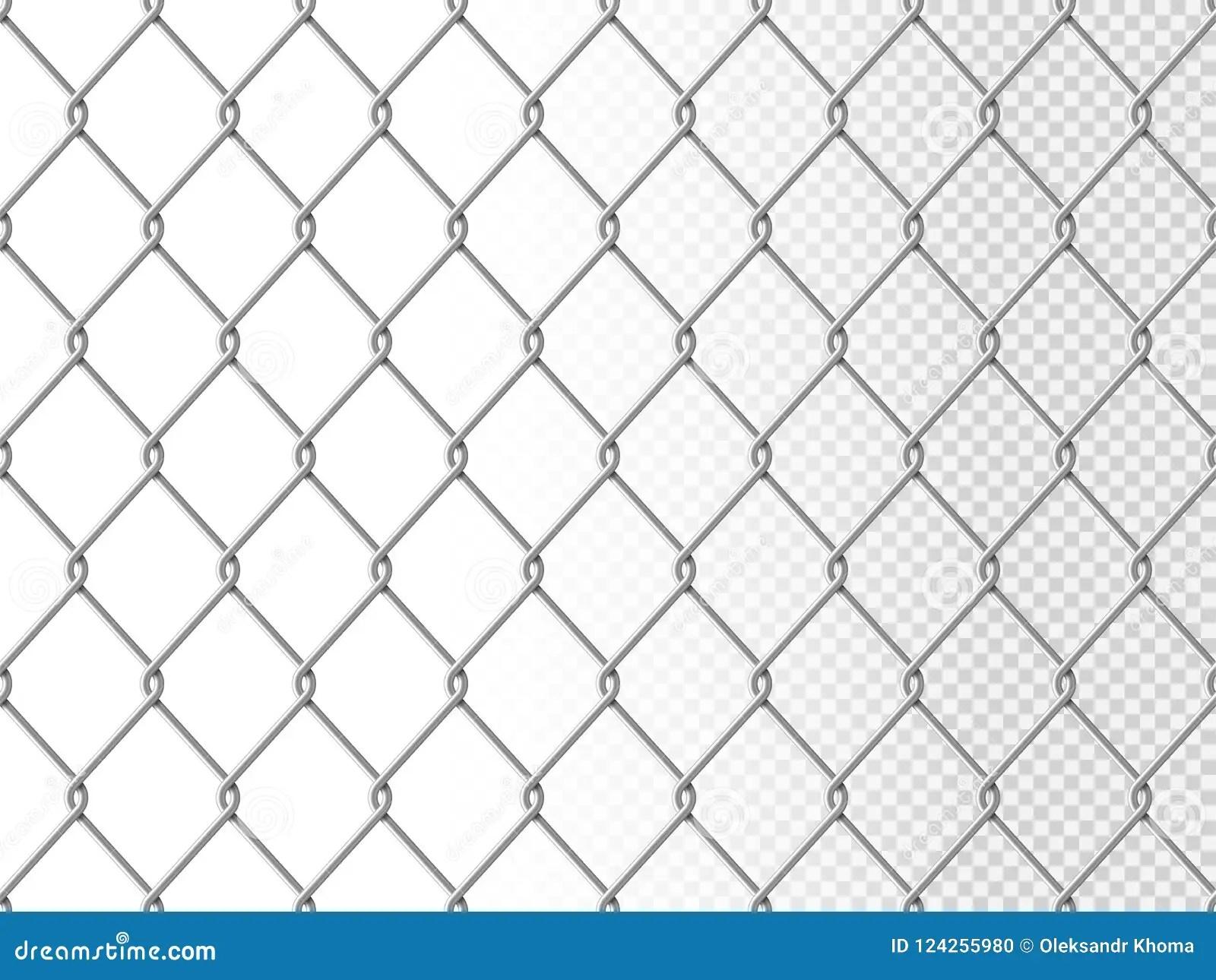 Steel Wire Mesh Seamless Background. Vector Cartoon Vector