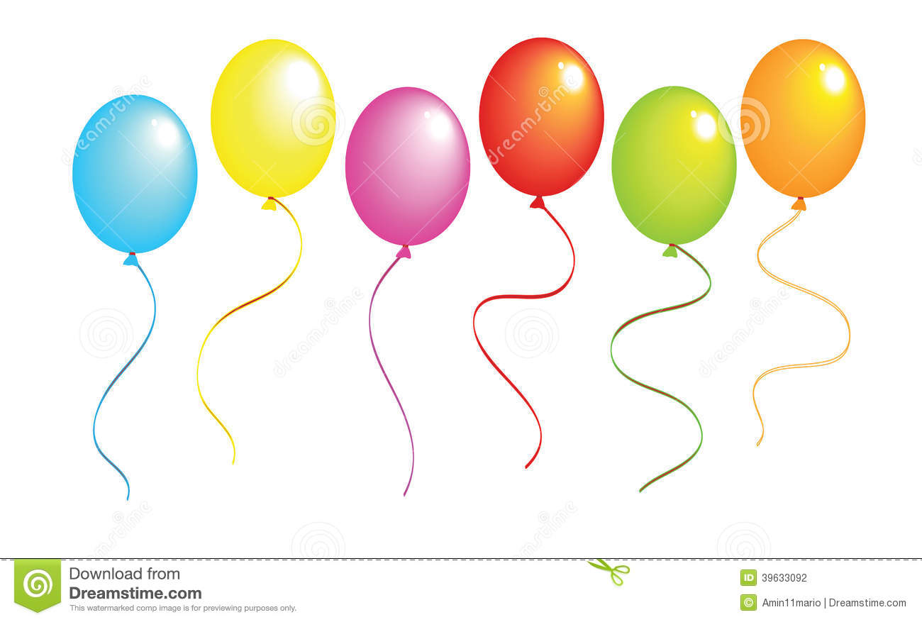 Realistic Color Balloons Stock Illustration