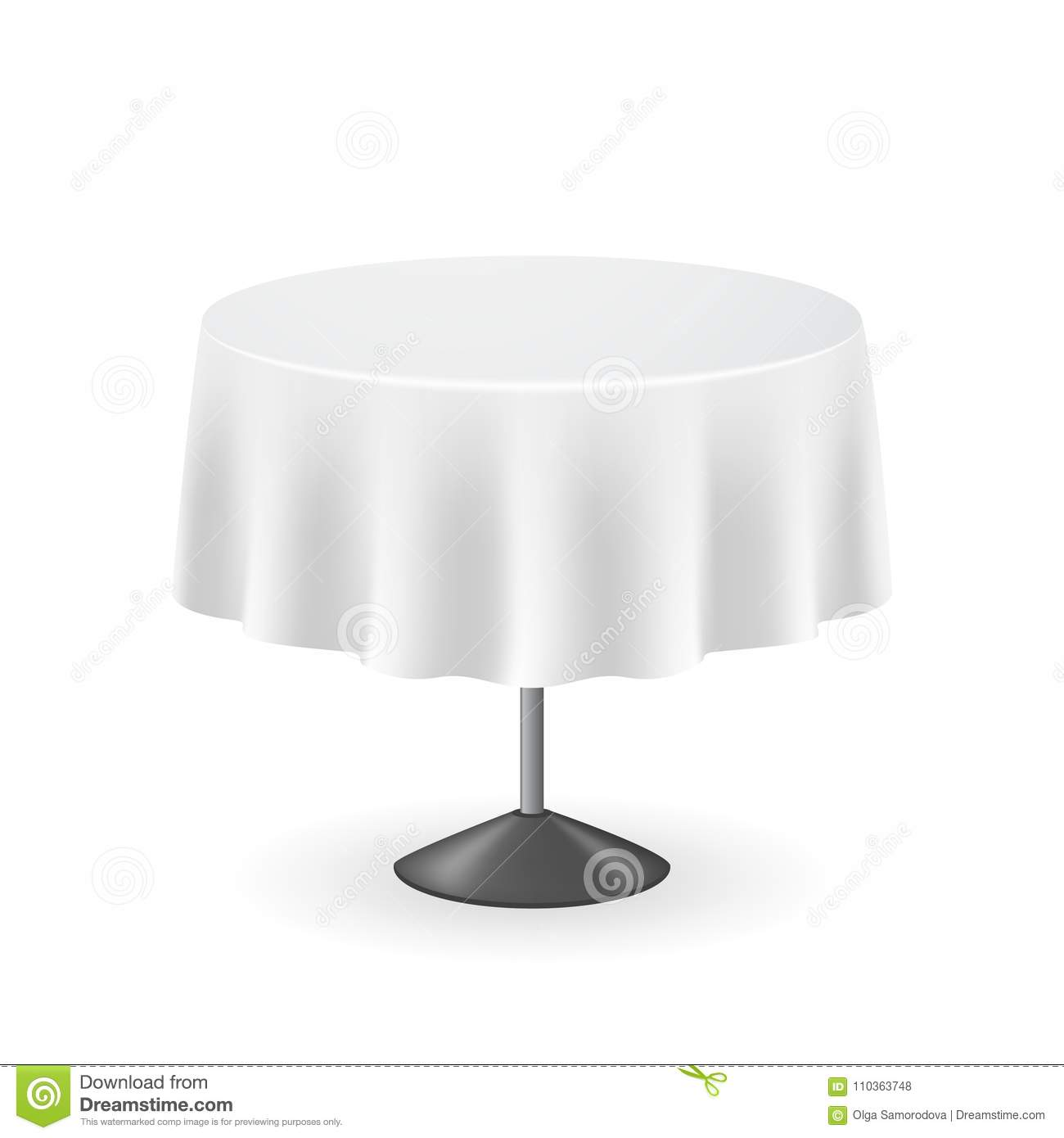 Download Realistic Detailed 3D Blank Round Table. Vector Stock Vector -  Illustration Of Clean,