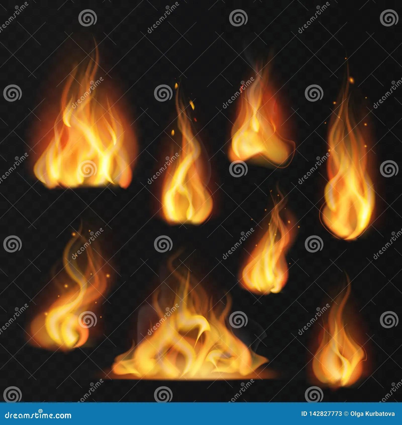 realistic flame fireball warm