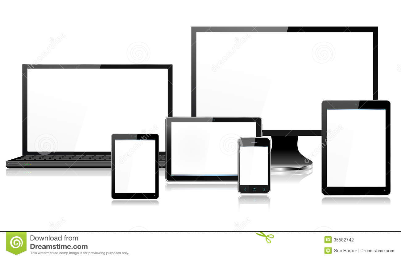 Realistic Mobile Computer Devices Laptop Monitor S Stock