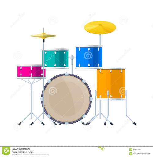 small resolution of realistic percussion musical instrument drum set sound barrels plates wands