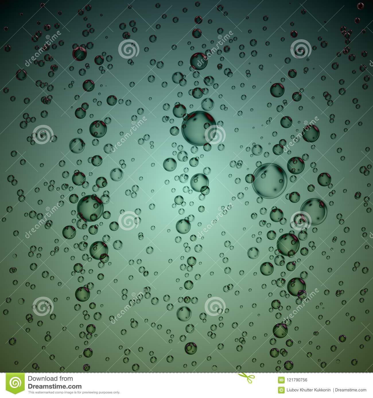 realistic underwater bubbles water