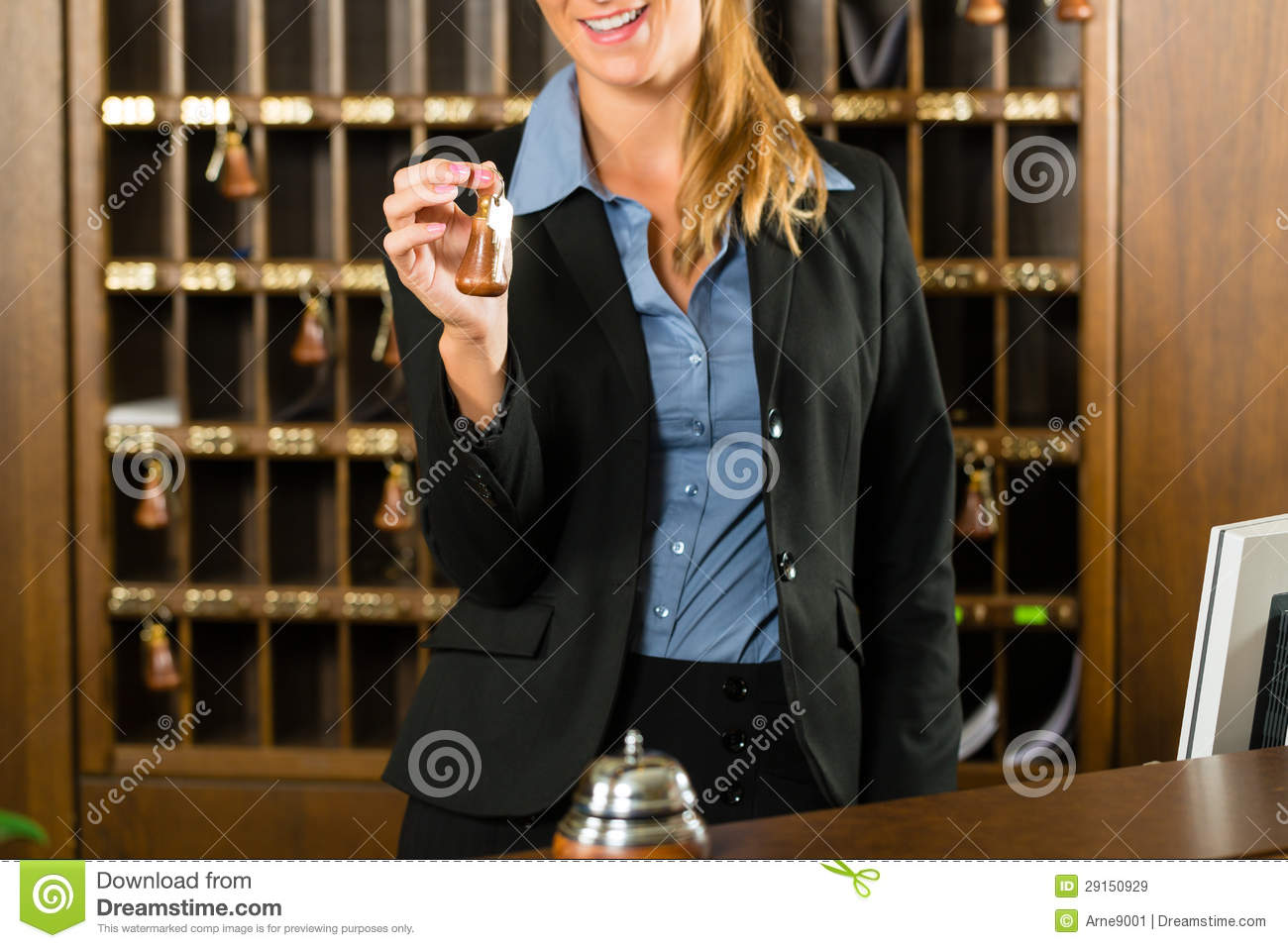 Reception Of Hotel  Woman Holding Key In Hand Royalty Free Stock Images  Image 29150929