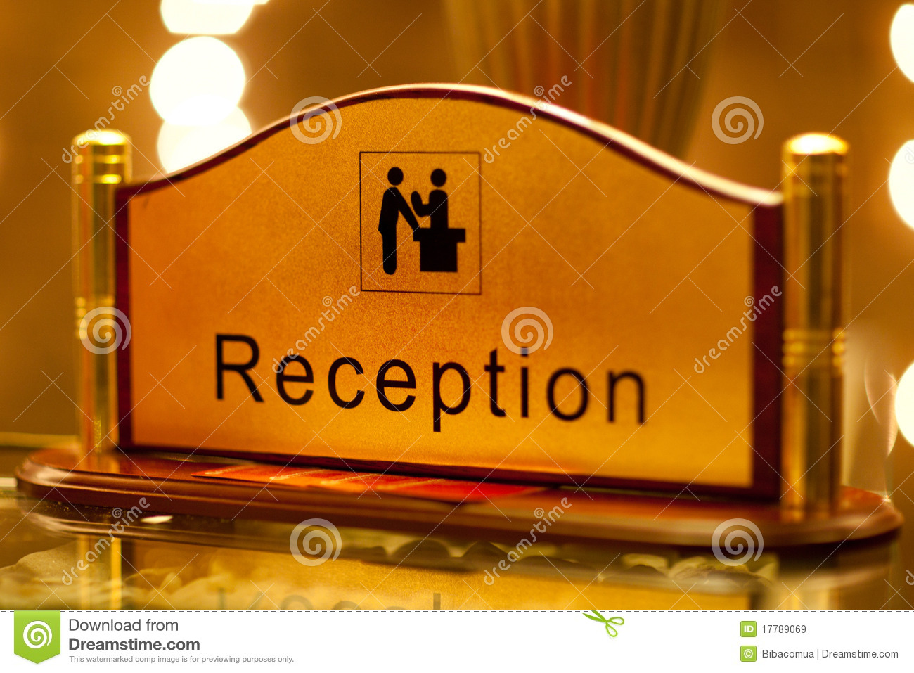 Reception Sign Royalty Free Stock Images  Image 17789069