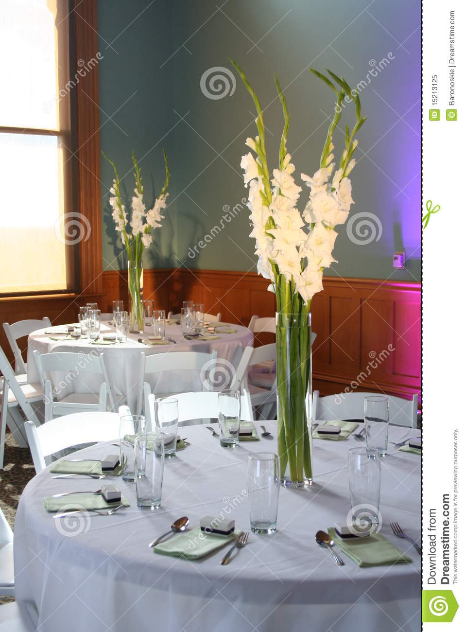 Reception Table Decorations Stock Image Image 15213125