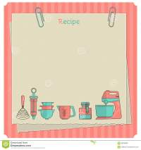 Recipe Card. Kitchen Note Template Stock Illustration