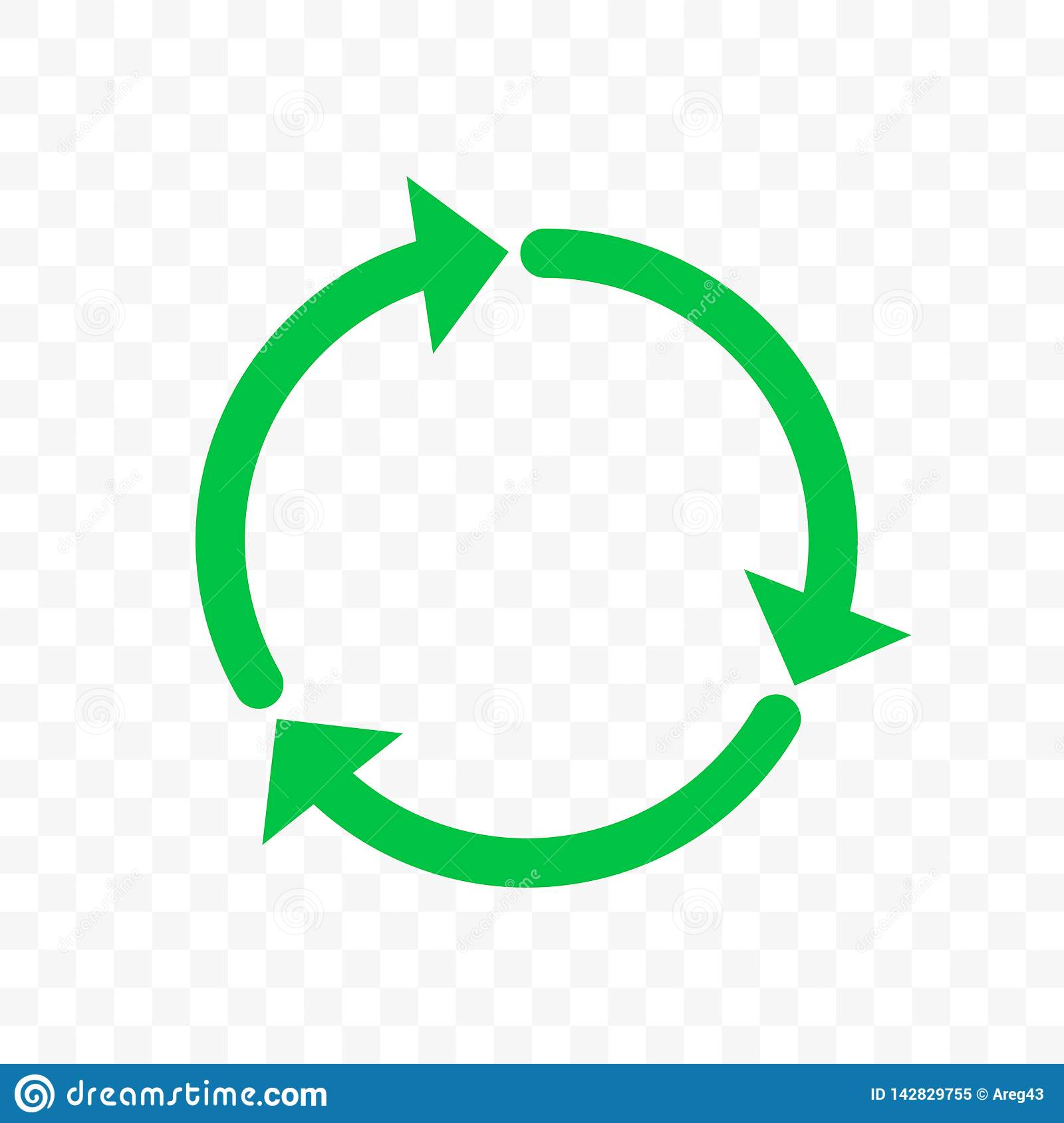 recycle icon vector arrow