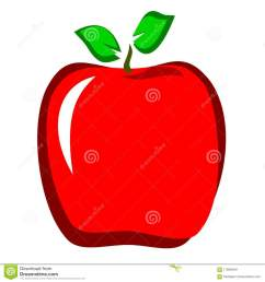 red apple clipart [ 1300 x 1390 Pixel ]