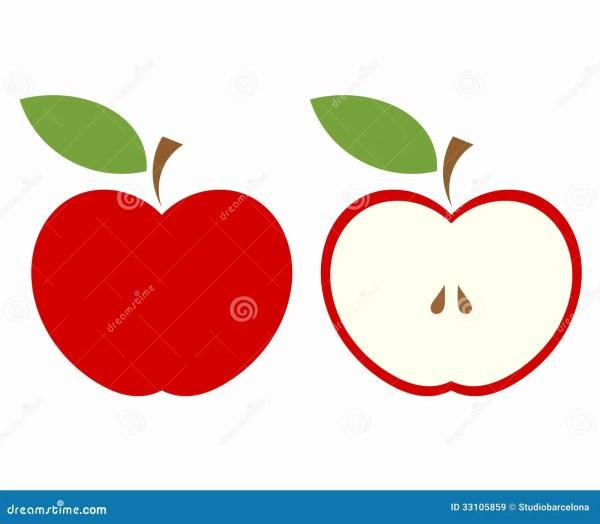 red apple cut stock vector. illustration