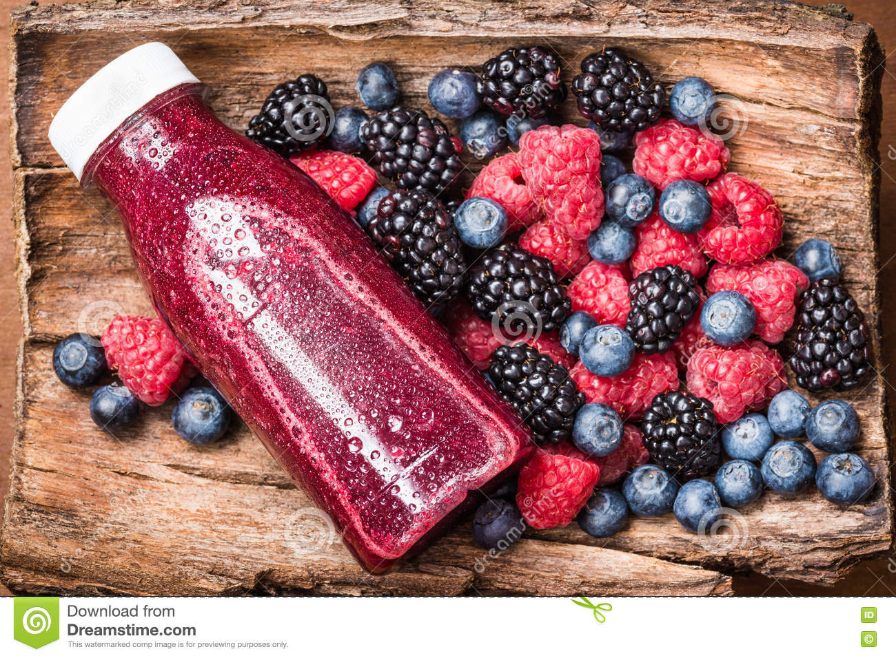 Red Berries Juice Or Smoothie Stock Photo Image 71870354
