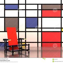 Red Blue Chair Eames Style Chairs And Royalty Free Stock Photography Image