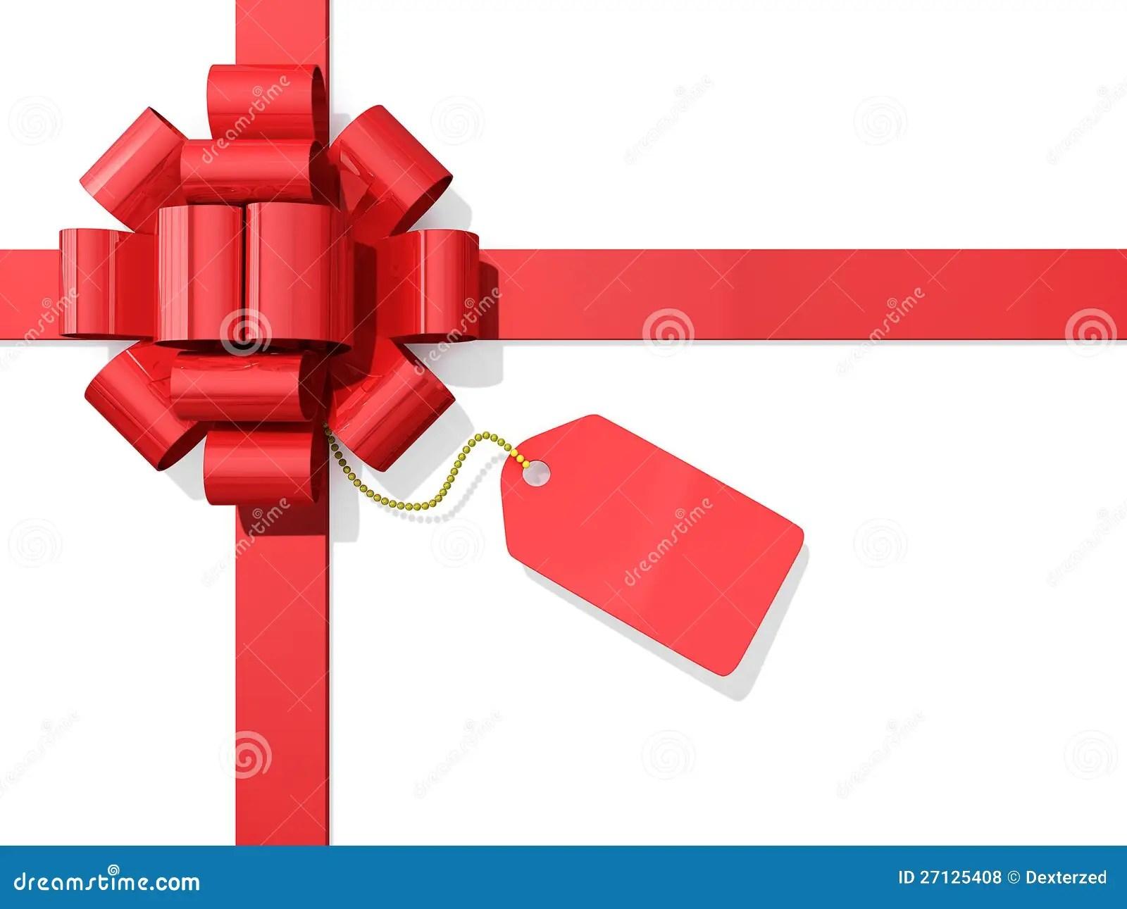 Red Bow Ribbon Tag Royalty Free Stock Photos Image 27125408