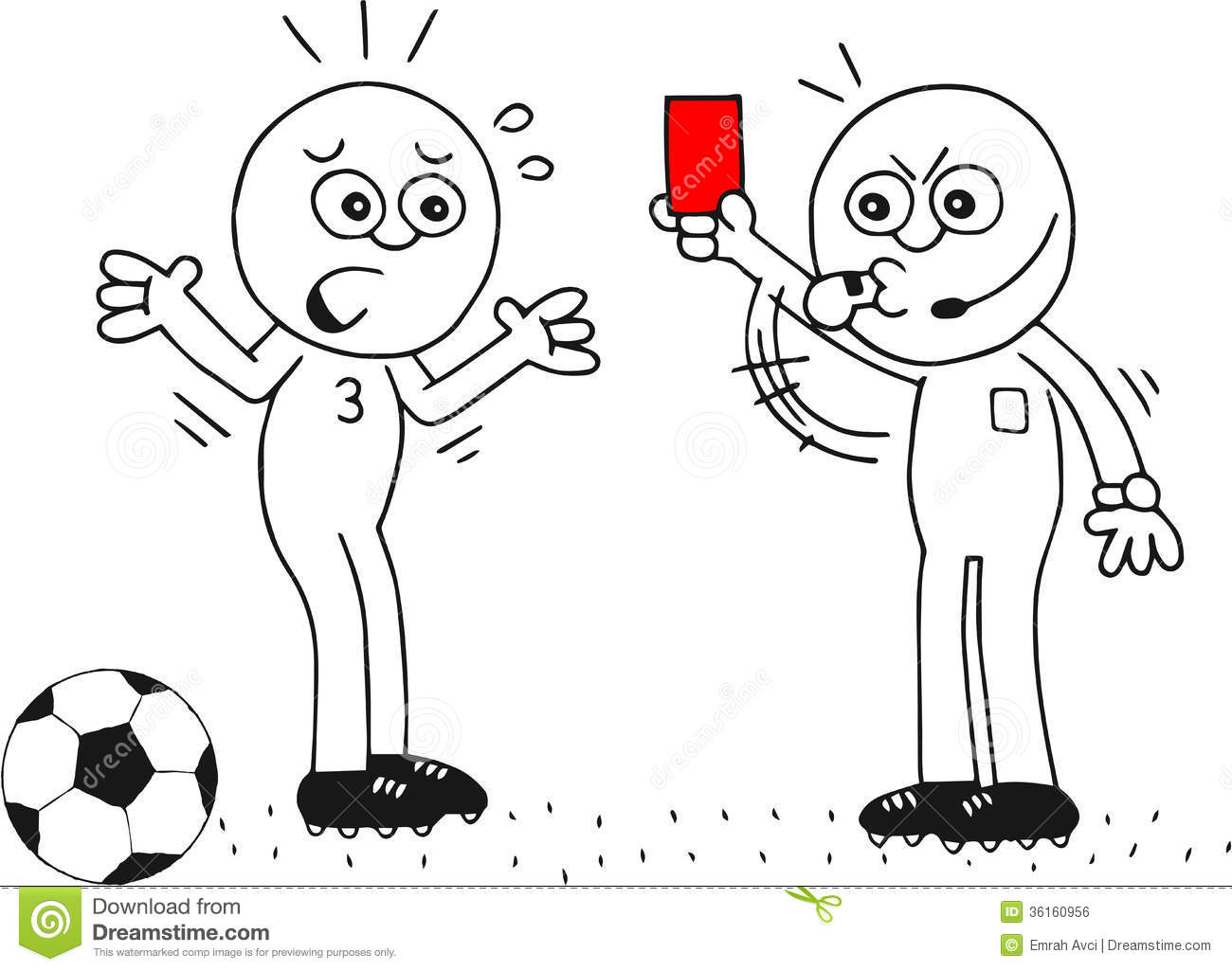 Red Card Royalty Free Stock Image