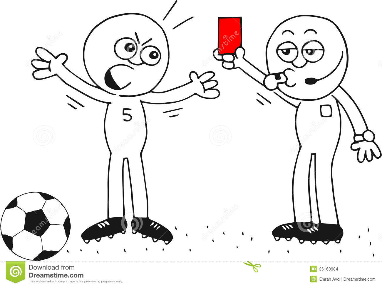 Red Card Stock Illustration Illustration Of Discipline