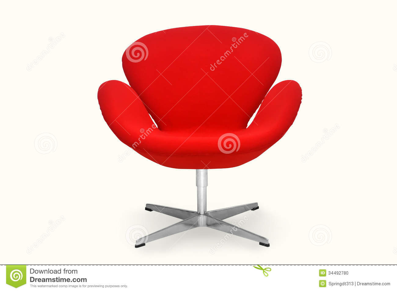 Modern Red Chair Red Chair Stock Photo Image Of Deco Design Office