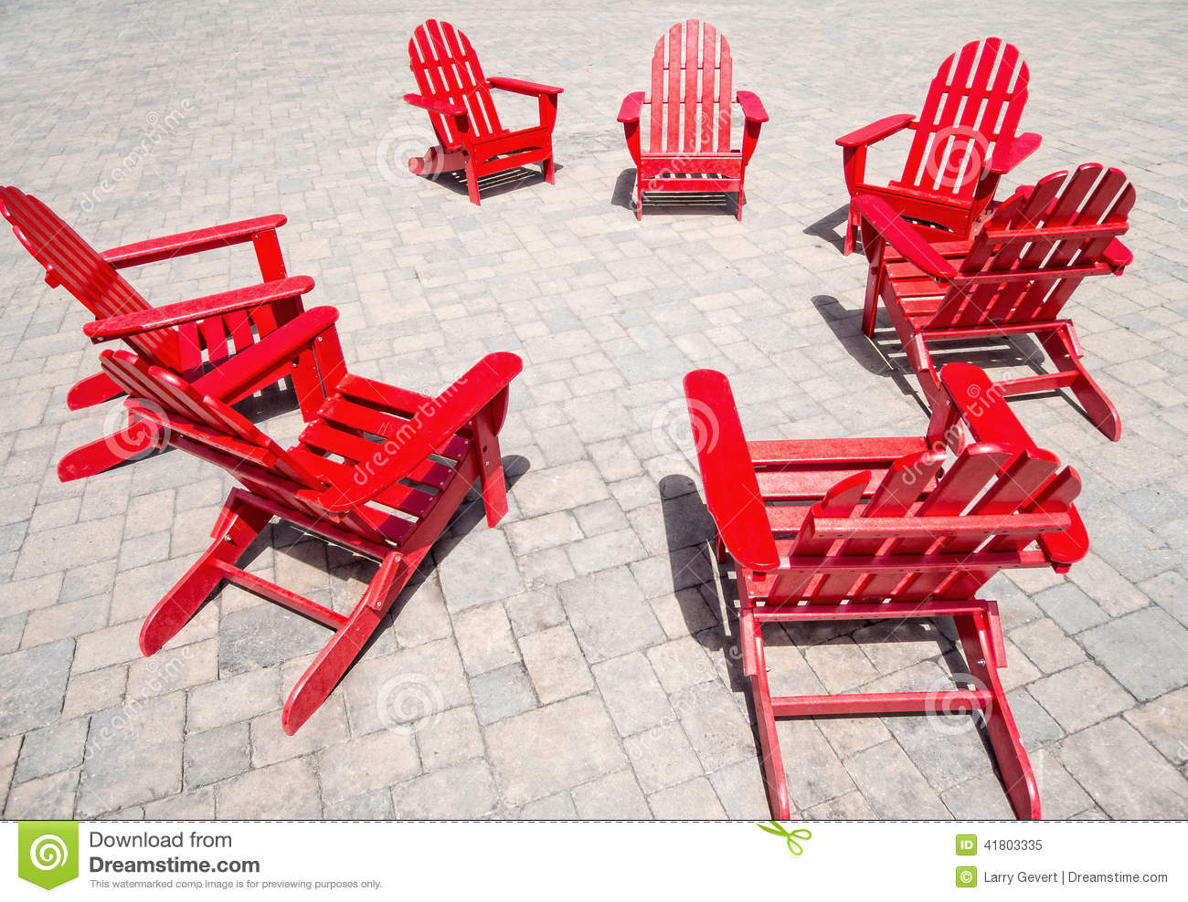 Red Adirondack Chairs Red Chairs Stock Image Image Of Bench Armchair
