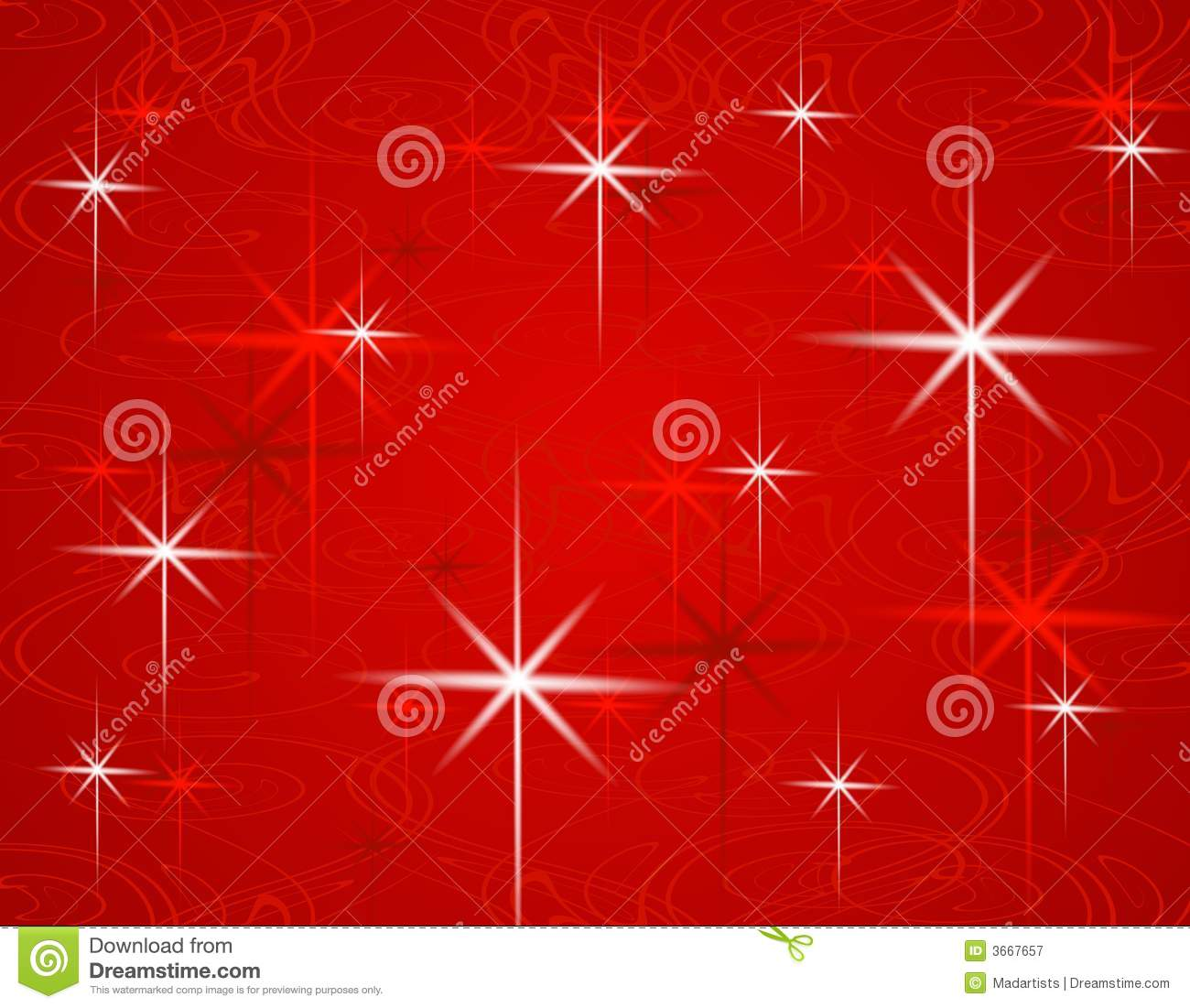Red Christmas Stars Background Royalty Free Stock