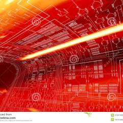 Free Electronic Circuit Diagram Two Pole Light Switch Red Stock Photography - Image: 21327322