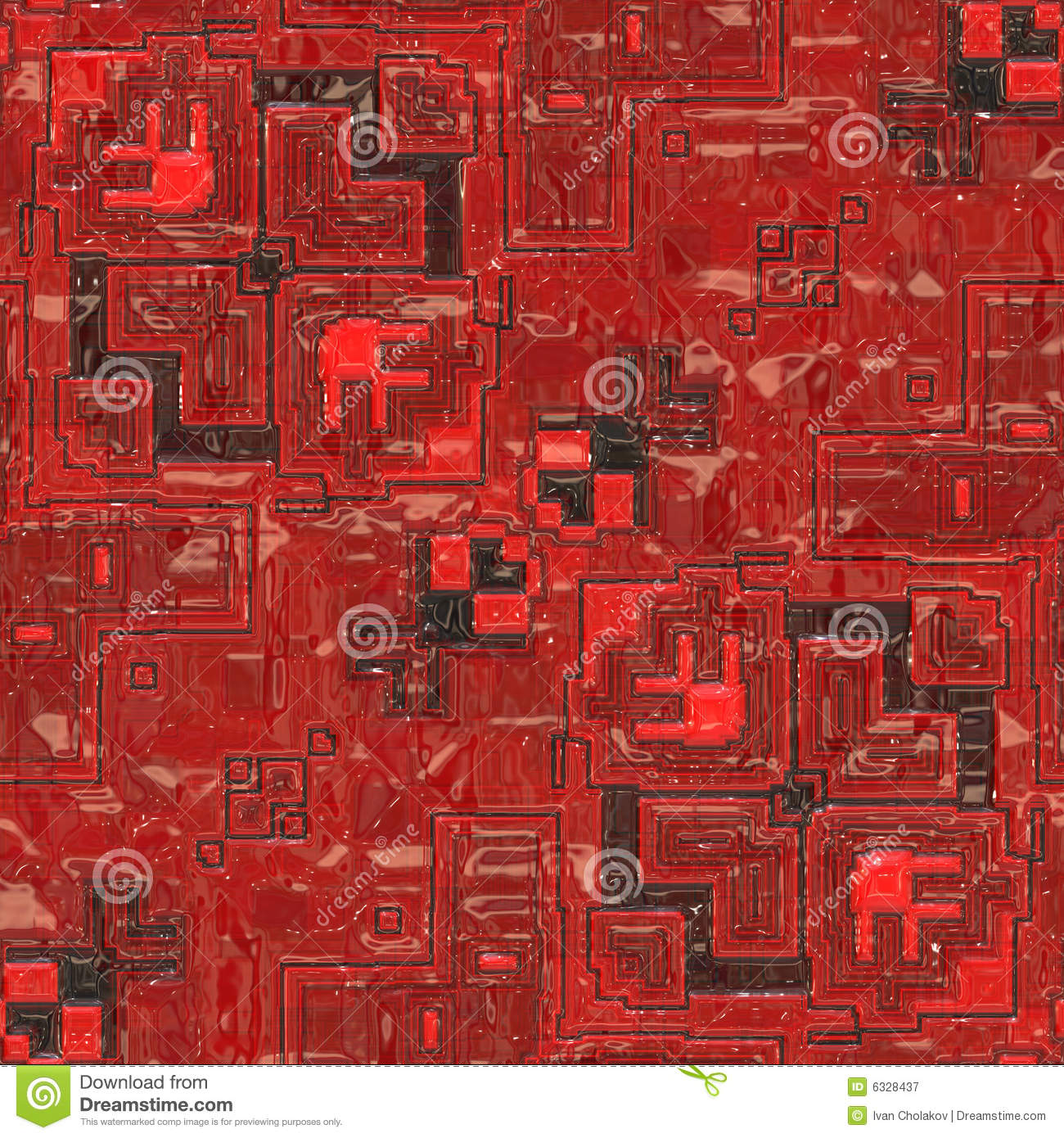 Royalty Free Image Of Background From Red Circuit Board Close Up