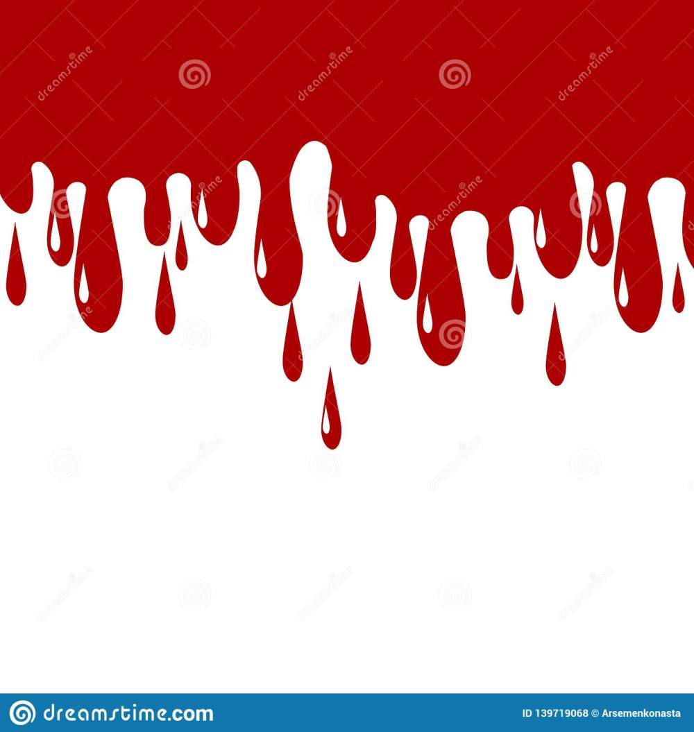 medium resolution of red color paint dripping blood drips vector illustration