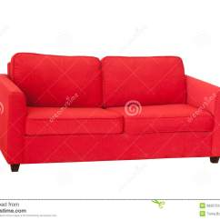 Red Fabric Sofa Home Theatre Sofas Perth Isolated On White Stock Photo Image Of