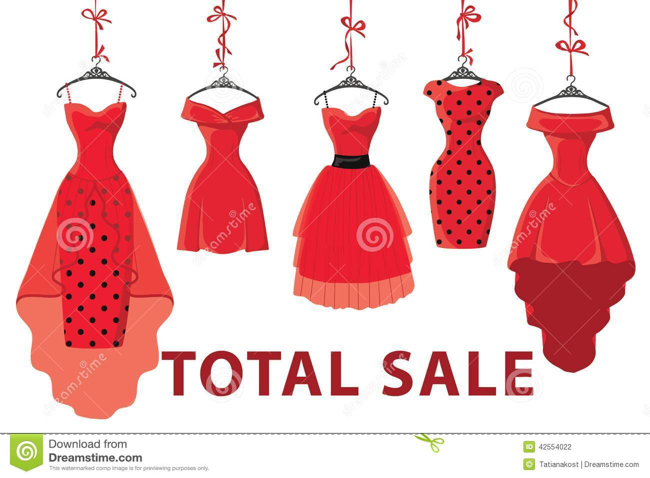 Red Fashion Womens Dresses Hang On RibbonBig Sale Stock