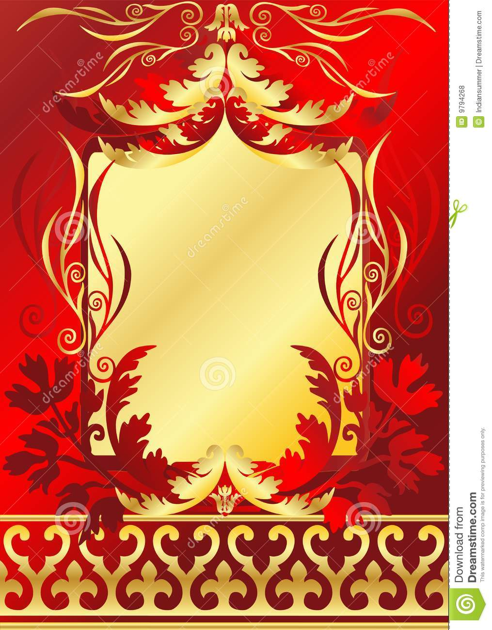 Red And Gold Frame Royalty Free Stock Photos  Image 9794268