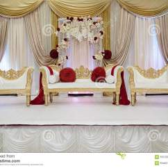Wedding Stage Chairs Black Target Red And Gold Stock Photo Image 63103045