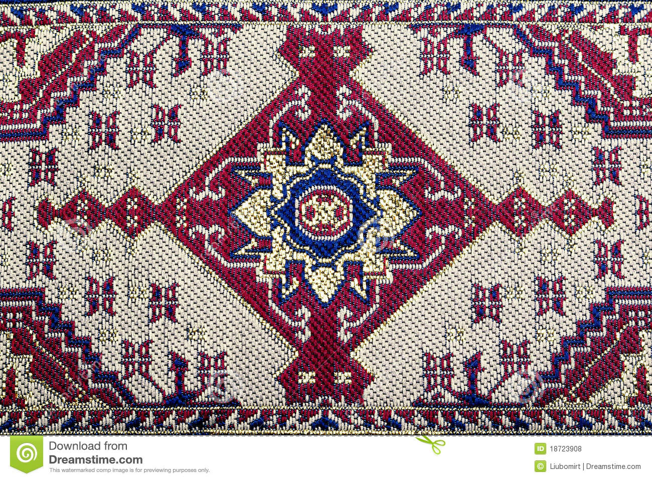 Red Graphic Embroidery Pattern Stock Photo  Image 18723908