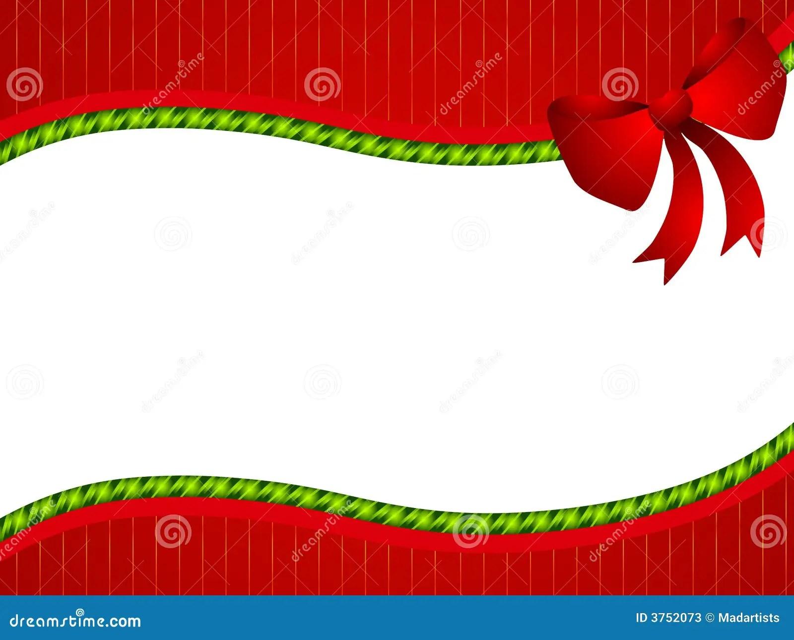 Red Green Christmas Bow Border Stock Illustration Image