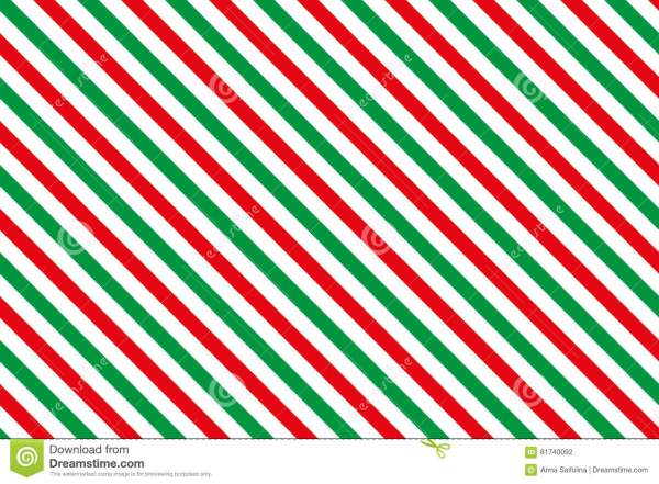Redgreen Stripes On White Background Stock Vector